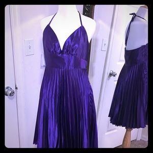 Jessica McClintock Gunne Sax Purple Halter Dress